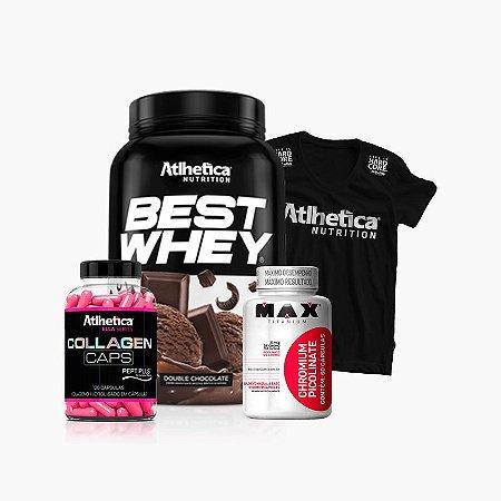 Best Whey + Picolinato de Cromo + Ella Colagen(Grátis Camiseta) - Atlhetica Nutrition