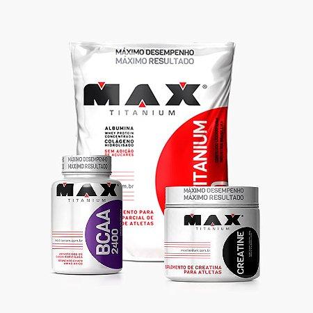 Combo Hipertrofia Máxima - Max Titanium