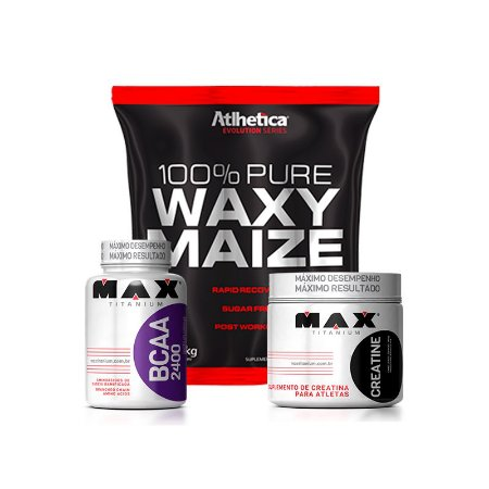 Waxy Maize + Creatina + Bcaa 2400 - Atlhetica