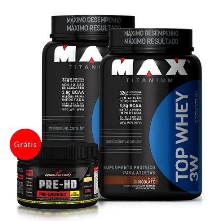 2x Top Whey 3W (900g) + Pre-HD Workout