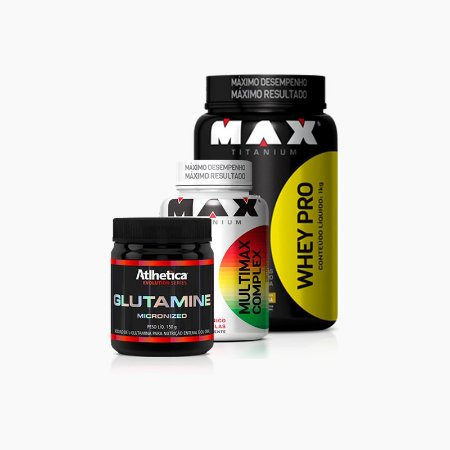 Combo + Imunidade - Whey Pro 900g + Glutamina 150g + Multimax