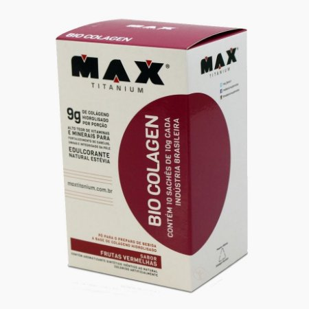 Bio Colagen (10 sachês/10g) - Max Titanium