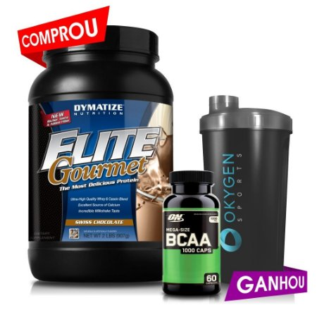 Elite Gourmet (907g) + BCAA (60caps) Optimum Nutrition + Shaker