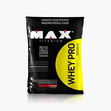 Whey Pro Max (1500g) Refil - Max Titanium