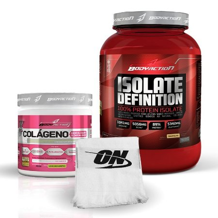 kit Isolate Definition(900g) + Colágeno (300g) - Body Action -Grátis Toalha ON