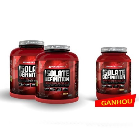 2x Isolate Definition (2000g) - (Ganhe 1unid 900g) - Body Action