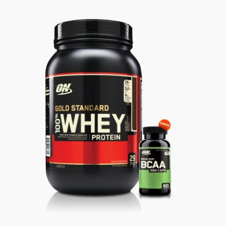 100% Whey Gold Standard 2lb + BCAA 1000 (60caps) - Optimum Nutrition