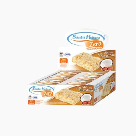 Cocada c/Amendoim Zero Açúcar (24unidades/480g)  - Santa Helena