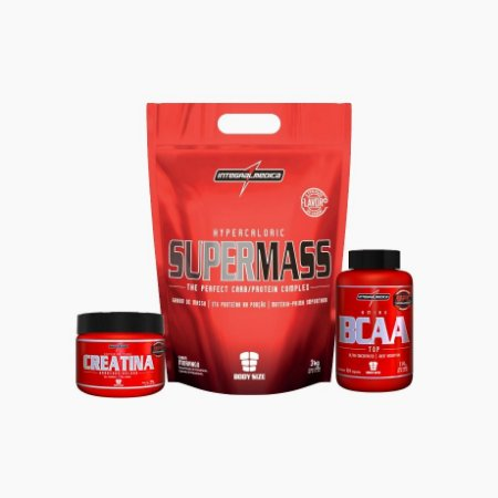 Super Mass 3kg + Creatina 100g +Bcaa Top (120 Caps) - Integral Médica