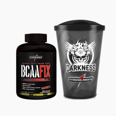 BCAA FIX (400tabs) + Grátis Copo Darkness - Integral Médica