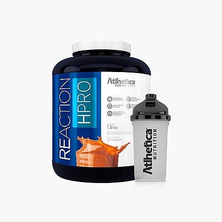 ReAction HPRO 1,8kg + Coqueteleira(grátis) - Atlhetica Clinical Series