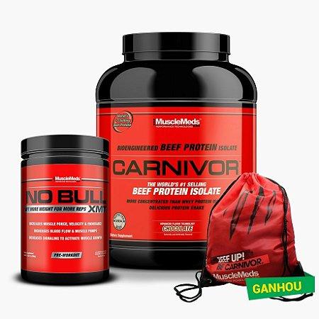 Carnivor Beef Protein (4lb) + No Bull (330g) - Grátis Bolsa Musclemeds
