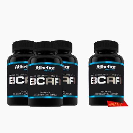 BCAA Pro Series(120caps) (COMPRE 3 LEVE 4) - Atlhetica Nutrition