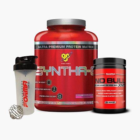 Syntha 6 (2kg) + No Bull (306g) + Shaker Forma - BSN