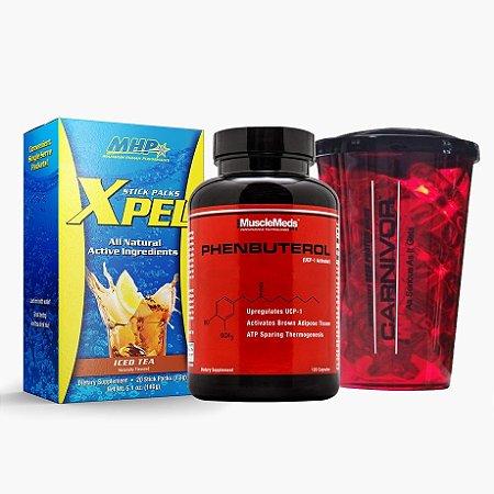 Xpel (20sachês) + Phenbuterol (120 caps) + GRÁTIS COPO MUSCLEMEDS