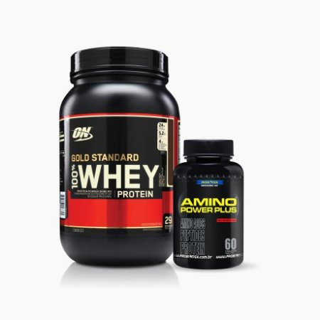 100% Whey Gold Standard 2lb + Amino Power Plus (60caps) - Optimum Nutrition