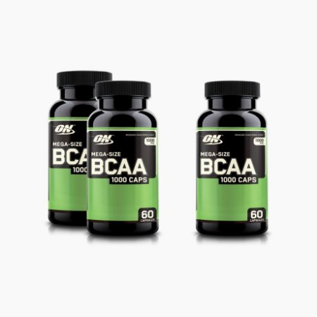 BCAA 1000 (60caps) - (COMPRE 2 LEVE 3) - Optimum Nutrition