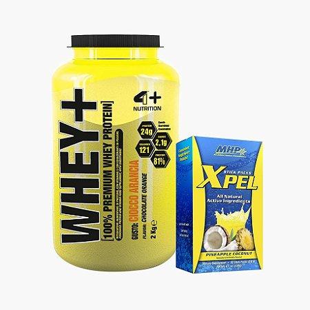 Whey Protein Premium (2kg) + Xpel - 4 Plus Nutrition