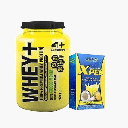 Whey Protein Premium (900g) + Xpel - 4 Plus Nutrition