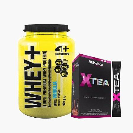 Whey Protein Premium (900g) + Xtea - 4 Plus Nutrition