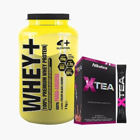 Whey Protein Premium (2kg) + Xtea - 4 Plus Nutrition