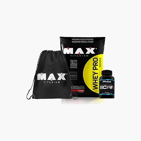 Whey Pro Max (1,5Kg) + BCAA Pro Series + Bag Max Titanium VENC:(06/2017)
