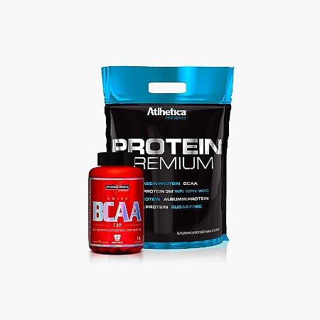 Protein Premium Refil (1,8kg) +BCAA Top (120caps) - Atlhetica Nutrition