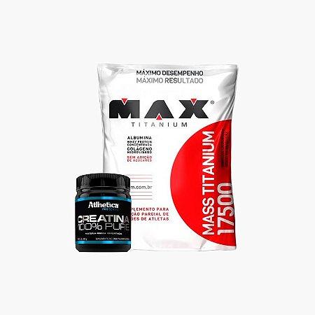 Mass Titanium (1,4 kg) + Creatina Pro Series (100g) - Max Titanium