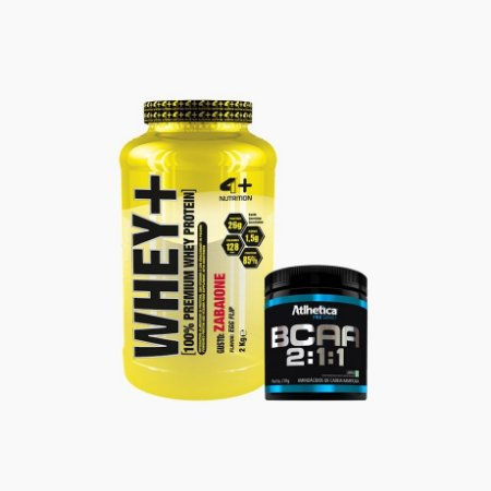 Whey+ (2000g) + BCAA Pro Series (210g) - 4 Plus Nutrition