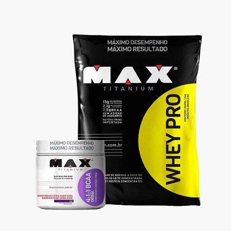 Whey Pro Max (1,5kg) + Bcaa Drink (280g) - Max Titanium (VENC:30/06)