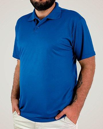 Camiseta Polo Azul Royal, Extra Grande, Poliviscose