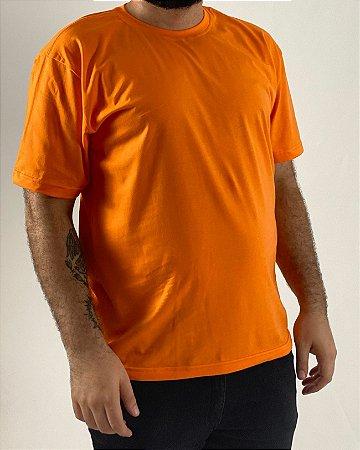 Camiseta Laranja, 100% Algodão, Fio 30.1 Penteado