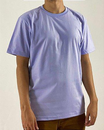 Camiseta Lilás, 100% Algodão, Fio 30.1 Penteado