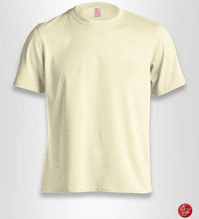 Camiseta Marfim, 100% Algodão, Fio 30.1 Penteado