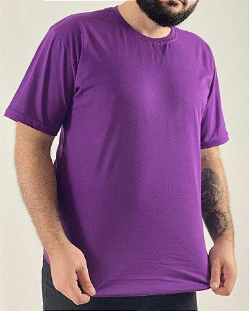Camiseta Roxa, 100% Algodão, Fio 30.1 Penteado