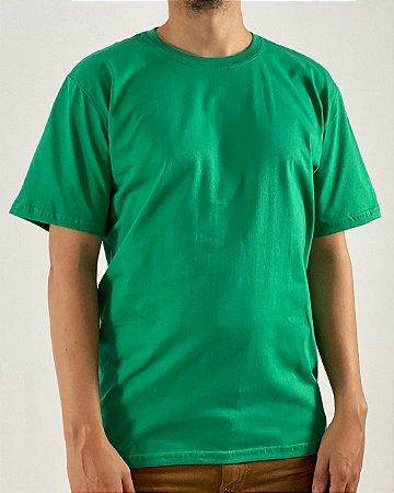 Camiseta Verde Bandeira, 100% Algodão, Fio 30.1 Penteado