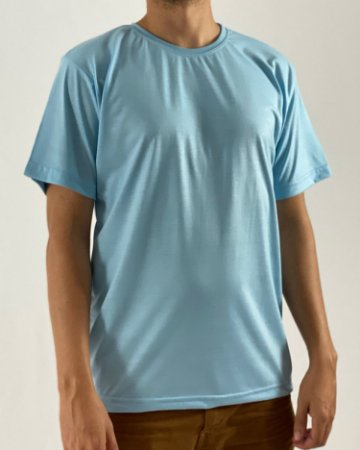 Camiseta Azul Claro, 100% Poliéster