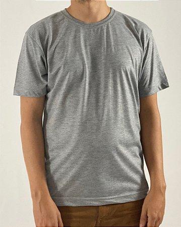 Camiseta Cinza Mescla, 100% Poliéster