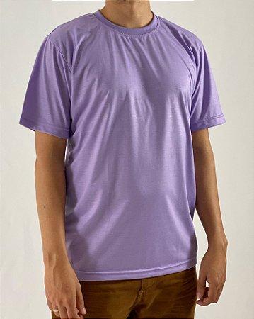 Camiseta Lilás, 100% Poliéster