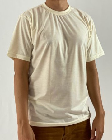 Camiseta Marfim, 100% Poliéster