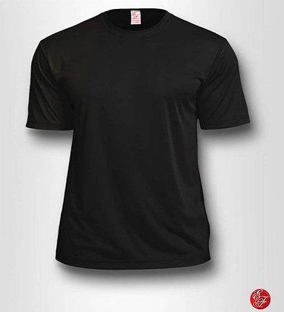 Camiseta Preta, 100% Poliéster