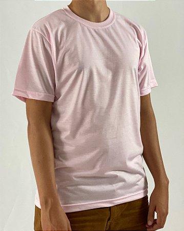 Camiseta Rosa Claro, 100% Poliéster