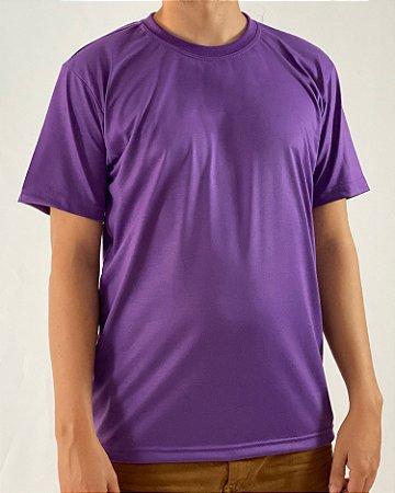 Camiseta Roxa, 100% Poliéster