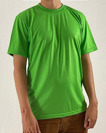 Camiseta Verde Limão, 100% Poliéster
