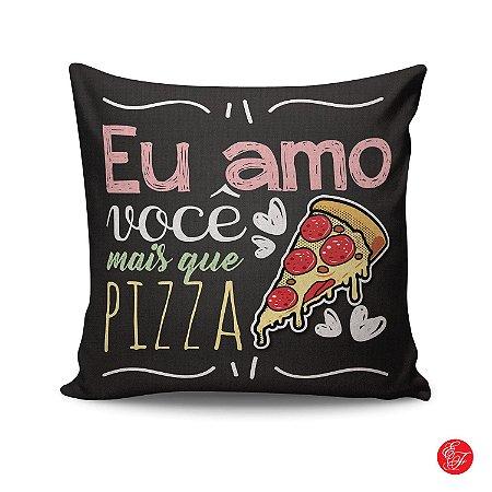 Almofada - Eu amo você mais que pizza