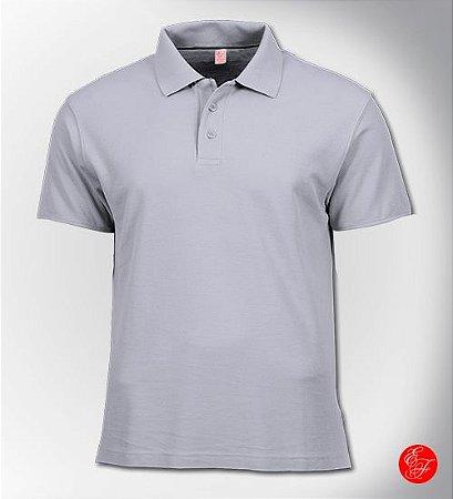 Camiseta Polo Branca, Malha 100% Poliéster
