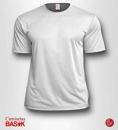Camiseta Branca Basik, 100% Poliéster Gramatura 150
