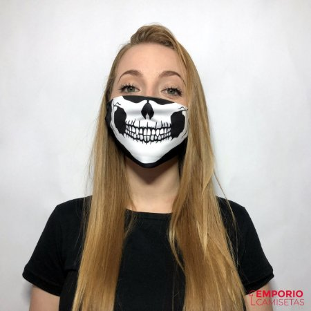 Mascara Personalizada - Caveira 01
