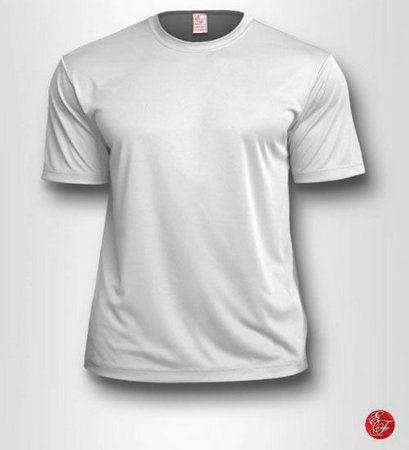 Camiseta Infantil Branca - 100% Poliéster