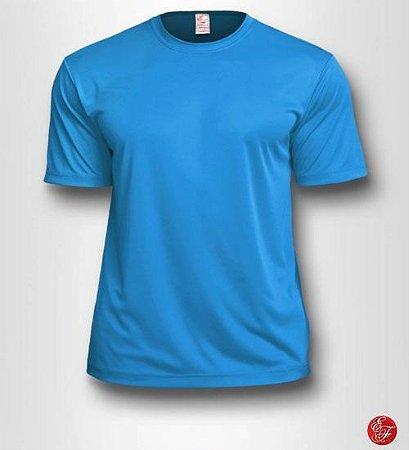 Camiseta Infantil Azul Turquesa - 100% Poliéster